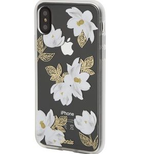 Sonix iPhone X/Xs White & Gold Foral Oleander Case